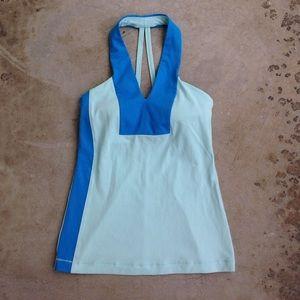 Lululemon teal blue v-neck racerback tank top bra